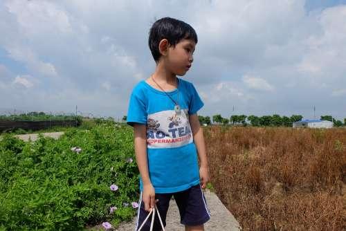 Boy Outdoor Cute Thinking