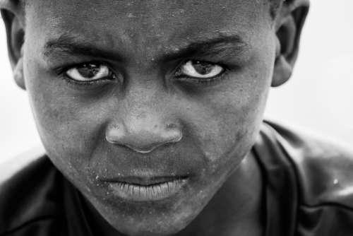 Boy African Africa Child Portrait Culture