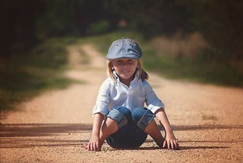 Boy Sitting Happy Child Cute Kid Young Little