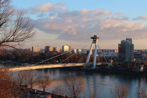 Bratislava Bridge Danube Architecture River