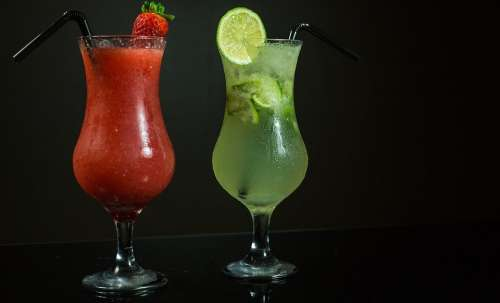 Brazil Cocktails Lemon Strawberry Drink Summer