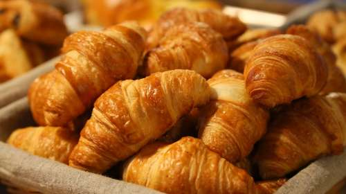 Bread Croissant Morning Puff Paste Puff Pastry