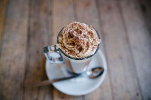 Breakfast Chocolate Coffee Cream Cup Delicious