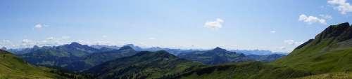 Bregenzerwald Austria Panorama Mountains Nature