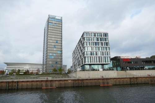 Bremen Weser River Ship Port City Architecture