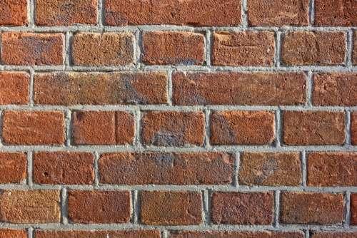 Brick Wall Wall Brickwork Masonry Seam Mortar