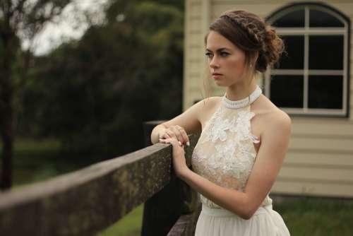 Bride Viewing Woman Female Young Portrait
