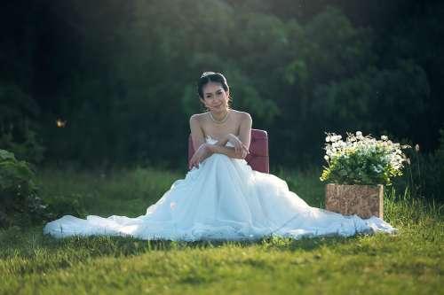 Bride Fashion Wedding Adult Asia Wedding Dress