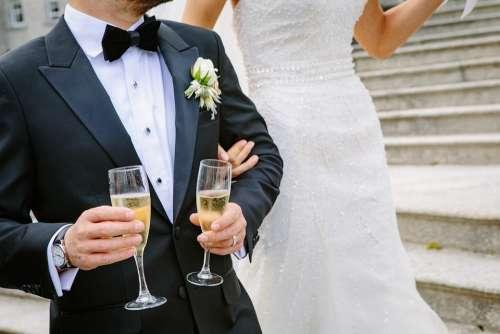 Bride Ceremony Champagne Elegant Formal Groom