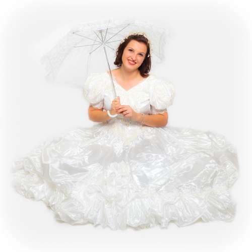 Bride White Woman Young Wedding Dress Fashion