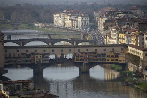 Bridge Old Florence Italy