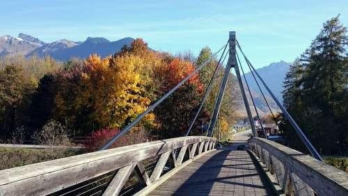 Bridge Viaduct Rhône Eagle River Fall Tree