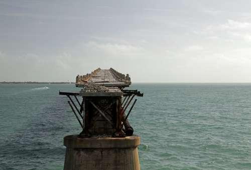 Bridge Old Abandon Ocean Keys Florida