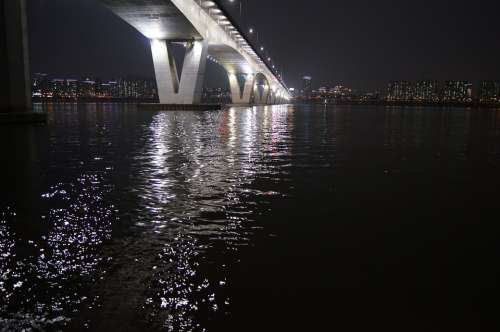 Bridge Republic Of Korea Korea Seoul Night View