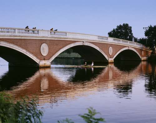 Bridge River Skulling Rowing Boat Arches