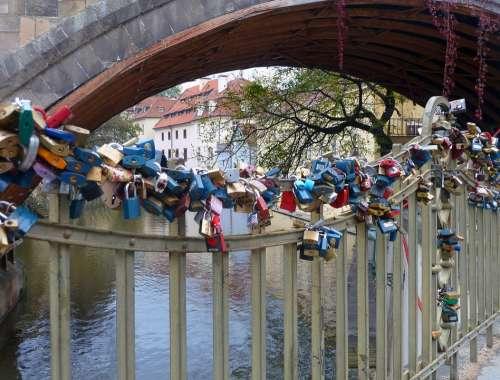 Bridge Lock Locks Clasps Love Padlock