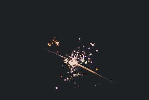 Bright Sparkler Celebrate Celebration Close-Up