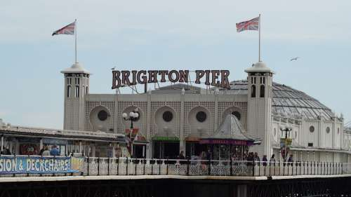 Brighton Brighton Pier Beach England Pier Sussex