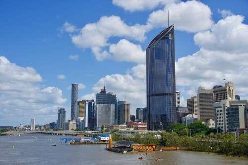 Brisbane Cityscape Skyline River Architecture