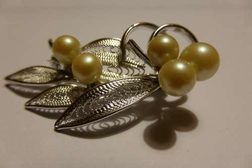 Brooch Jewellery Fashion Jewelry Silver Beads