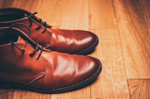 Brown Shoes Lace-Up Shoes Brown Leather Shoes