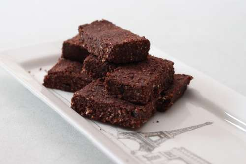 Brownies Vegan Bars Cocao Food Healthy Natural