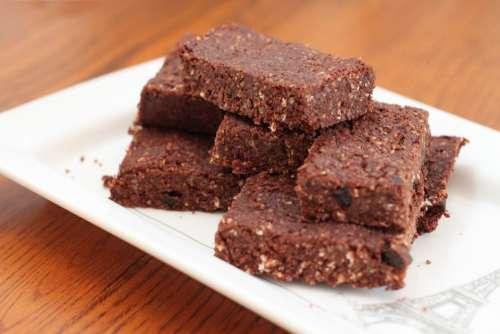 Brownies Vegan Bars Cocao Food Healthy Natural
