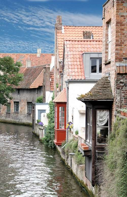 Bruges Channel Romantic City History Water Houses