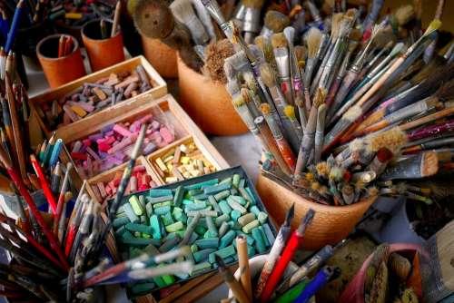 Brush Chalk Color Atelier Paint Colorful
