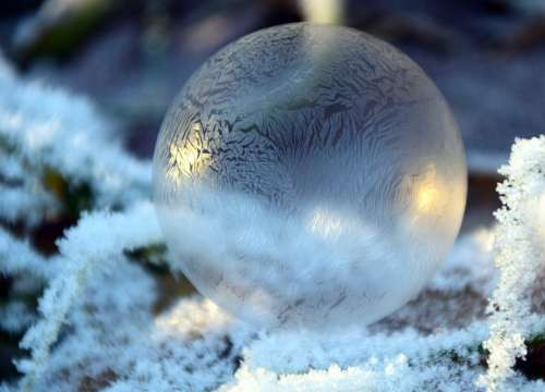 Bubble Soap Bubble Balls Winter Cold Frost