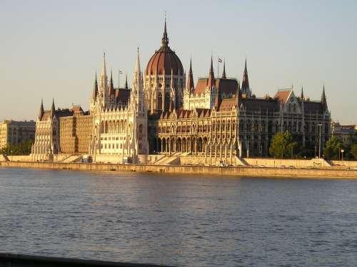 Budapest The Parliament Hungary Building City