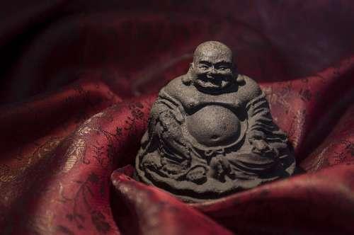 Buddha Religion Statuette Statue Praying Buda