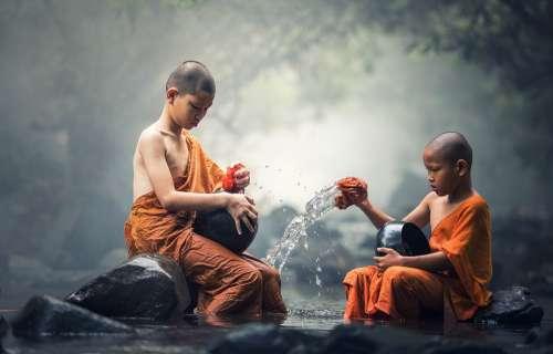 Buddhist Ritual Water Buddhism Meditation Ancient