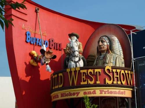 Buffalo Bill Disneyland Wild West Show Indians