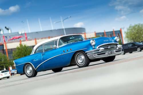 Buick Oldtimer Special 1955 Old Car Blue Classic
