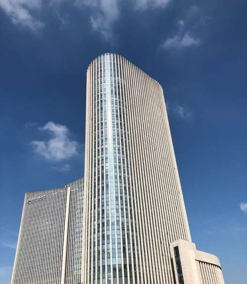 Building Tall Buildings Hotel Sky Blue Cloud