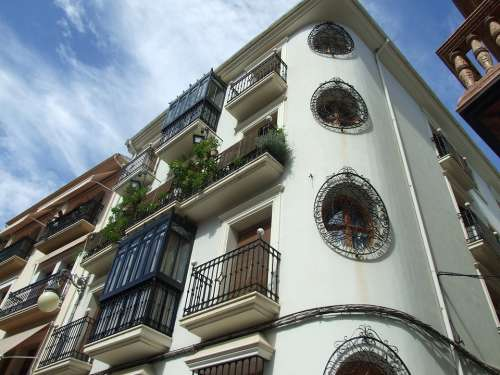 Building Facade Architecture City Spain Urban