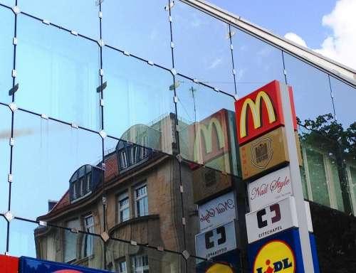Building Reflections Houses City Stuttgart