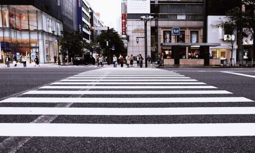 Buildings Pedestrian Crossing City Crossing