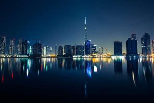 Buildings Dubai Metropole City City Lights