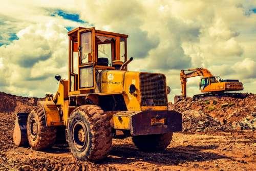 Bulldozer Excavator Heavy Machine Equipment Vehicle