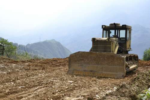 Bulldozer Clearing Agriculture Monoculture