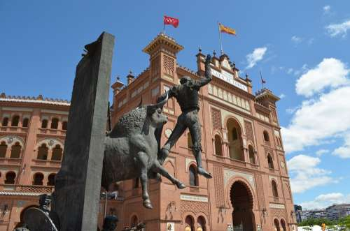Bullfighting Arena Madrid Spain Bullring Torero