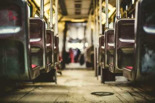 Bus Train Subway Inside Seats Public Transport