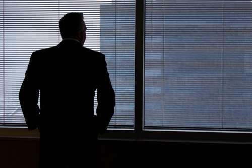 Business Man Business Man Businessman Window
