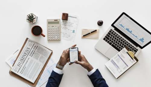 Business Documents Smartphone Office Application