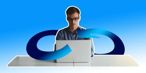 Businessman Freelancer Laptop Infinity Information