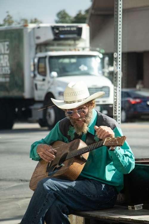 Busker Guitarist Guitar Street Musician Atx