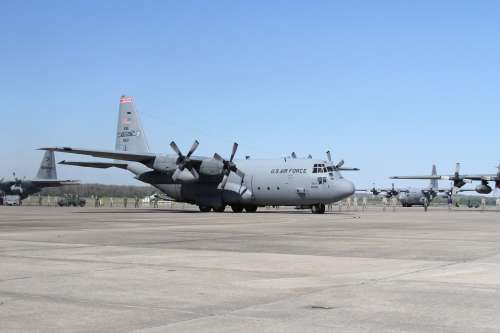 C-130 Military Airplane Aircraft Hercules Flight