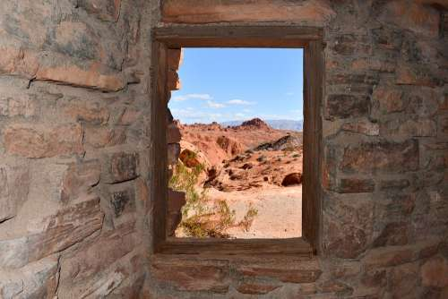 Cabins At Valley Of Fire Window View Out